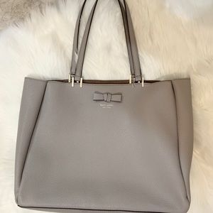 Kate Spade Beige Tote with Bow